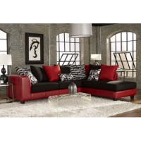 Stoked Red & Black Sectional