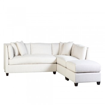 Byron Sectional with Ottoman - Sandstone