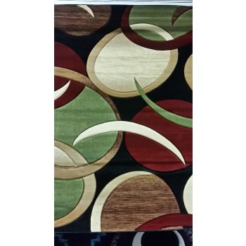 Multi- Color Hand Carved Rug 5x8