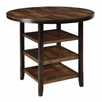 Moriann - Dark Brown - Round DRM Counter Table