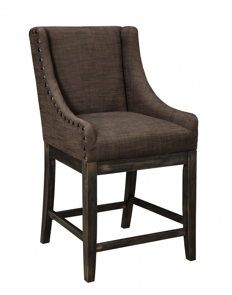 Moriann - Dark Brown - Upholstered Barstool (Set of 2)