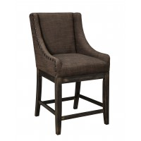 Moriann - Dark Brown - Upholstered Barstool (Set of 2)