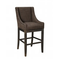 Moriann - Dark Brown -  Tall UPH Barstool (Set of 2)
