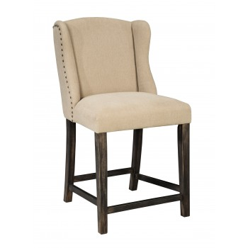 Moriann - Light Beige - Upholstered Barstool (Set of 2)