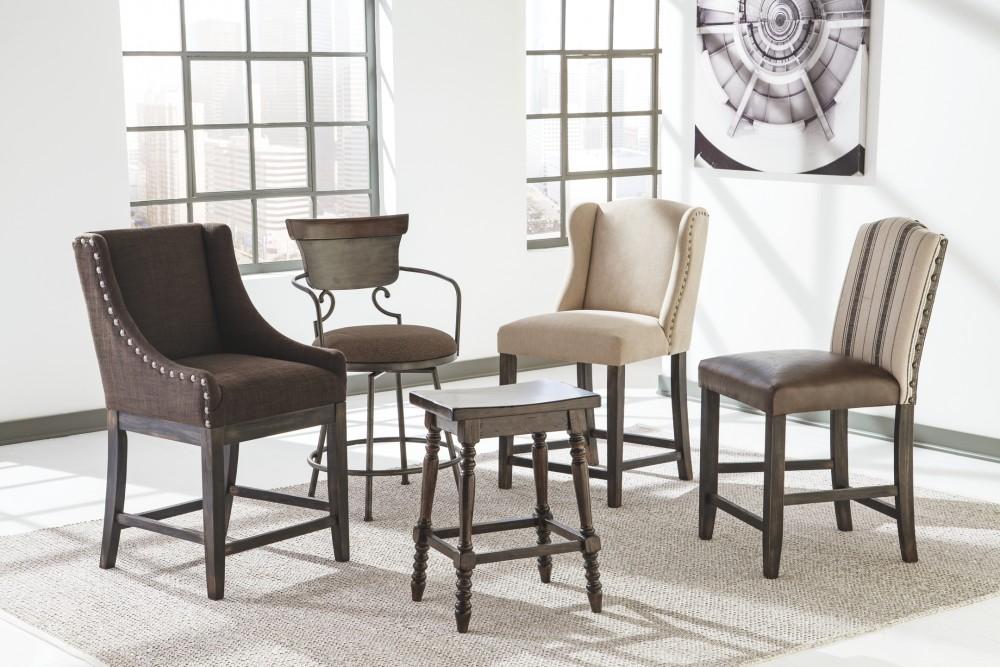 Moriann Two Tone Upholstered Barstool 1 Cn D608