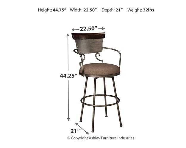 Moriann Two Tone Tall Uph Barstool 1 Cn D608 630