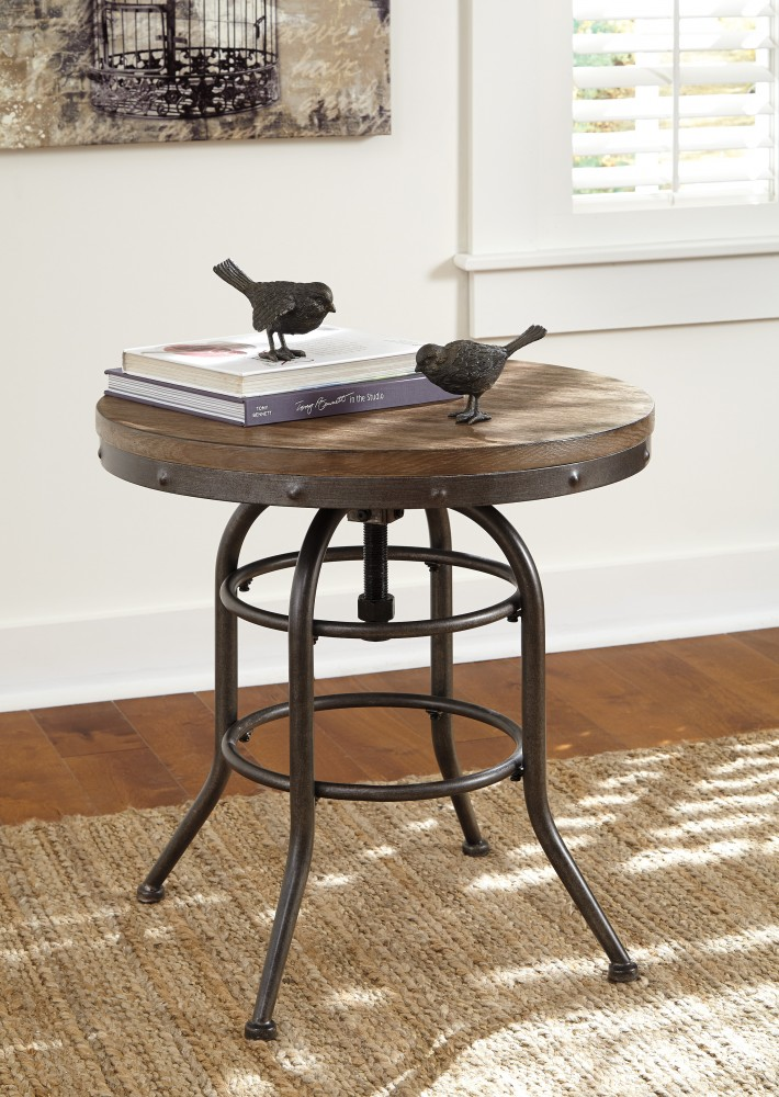 Rustic Accents   Round End Table