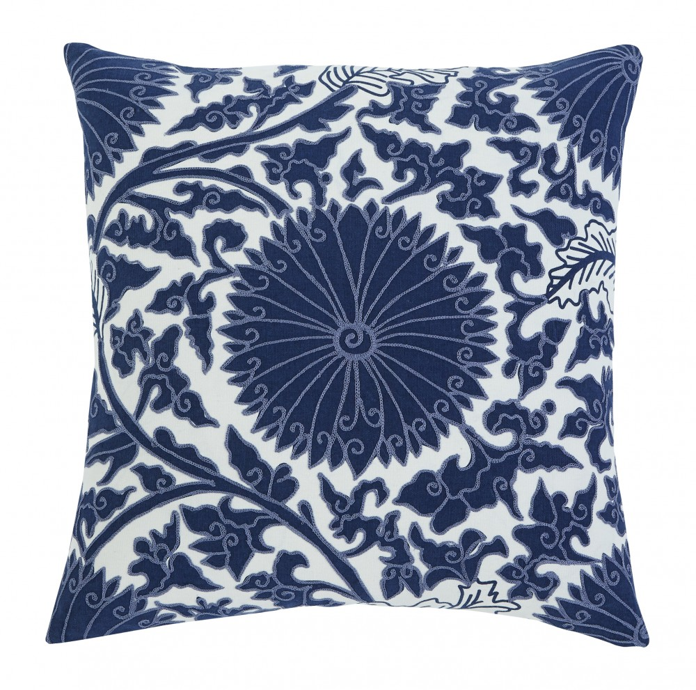 Medallion - Navy - Pillow Cover
