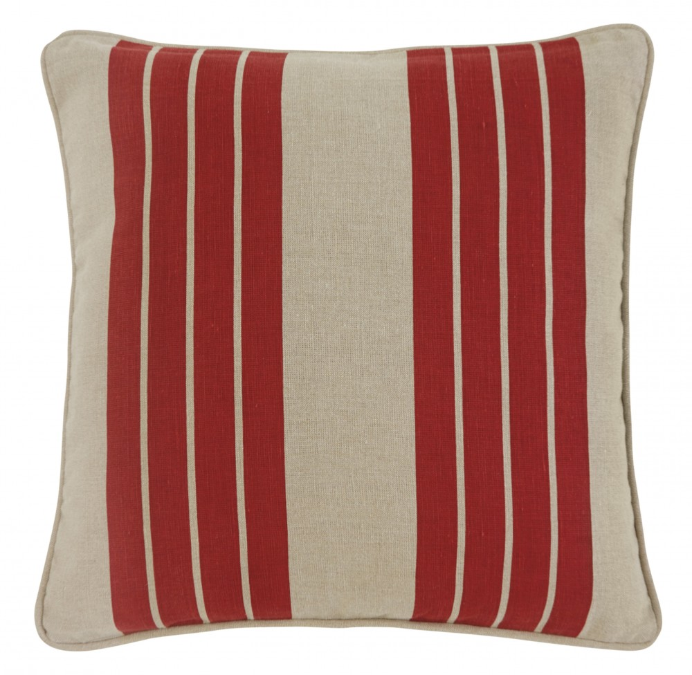 Striped - Red - Pillow Cover