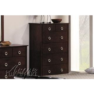 Cappuccino Finish Bycast 6-Drawer Chest