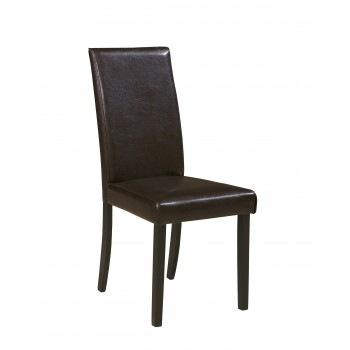 Kimonte - Brown - Dining UPH Side Chair (Set of 2)