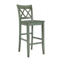 Mestler - Blue/Green Tall Barstool (Set of 2)