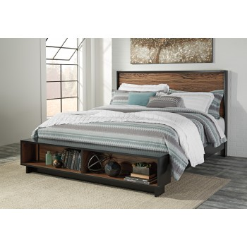 Stavani King Panel Bed with Storage