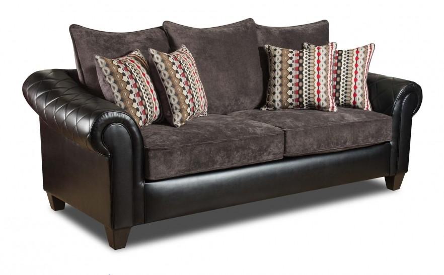 Ghana Black Sofa And Loveseat