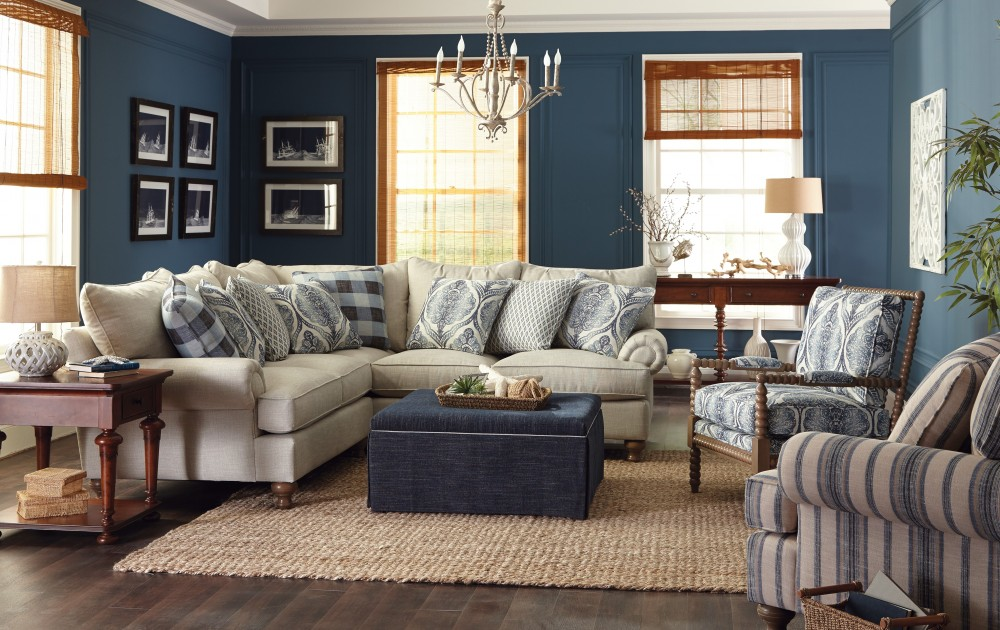 Southern Farmhouse Sectional Living Room Plantation