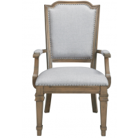 Florence Grey Upholstered Dining Arm Chair (Pack of 2)