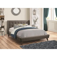 CARRINGTON COLLECTION - Carrington Grey Upholstered King Bed