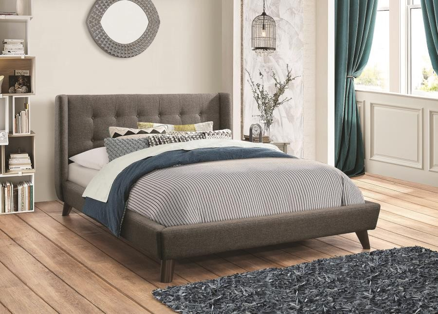 CARRINGTON COLLECTION - Carrington Grey Upholstered California King Bed