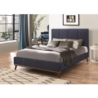 CHARITY COLLECTION - Charity Blue Upholstered Queen Bed