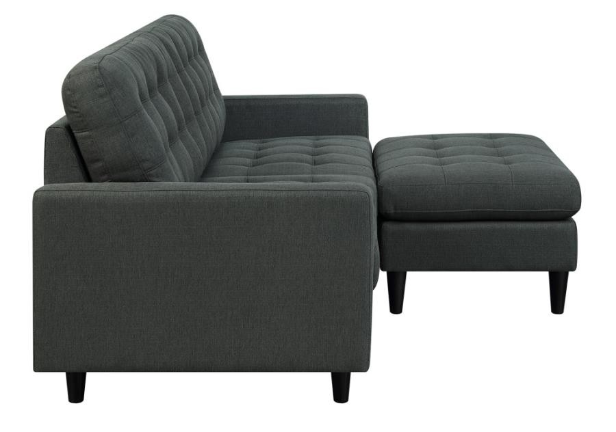 Remarkable Kesson Mid Century Modern Charcoal Grey Ottoman Machost Co Dining Chair Design Ideas Machostcouk