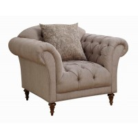 Alasdair Traditional Light Brown Arm Chair