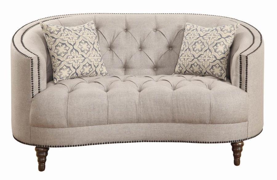 Avonlea Traditional Beige Loveseat 505642 Love Seats