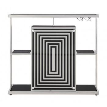 Contemporary Glossy Black Bar Unit