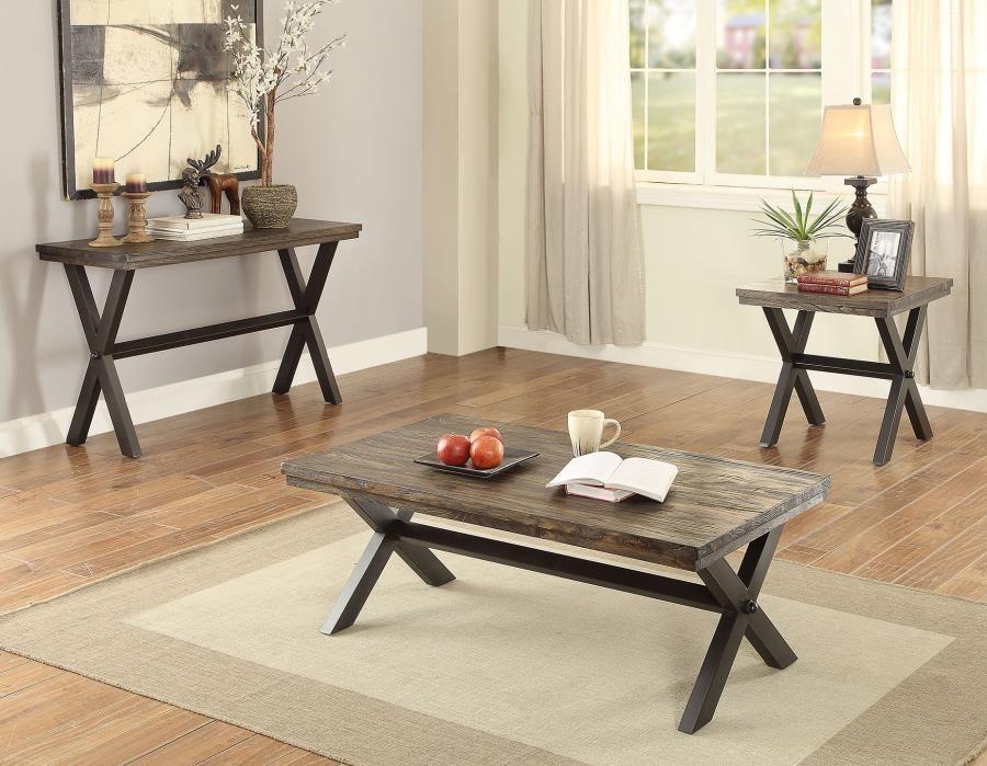 Romilly Rustic Dark Brown Sofa Table