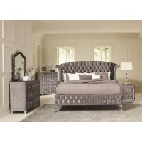 DEANNA BEDROOM COLLECTION - Deanna Bedroom Traditional Metallic Eastern King Bed