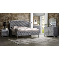 DEANNA BEDROOM COLLECTION - Deanna Metallic Nightstand