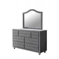 DEANNA BEDROOM COLLECTION - Deanna Metallic Mirror