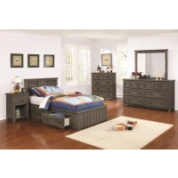 NAPOLEON COLLECTION - Napoleon Rustic Gun Smoke Twin Bed