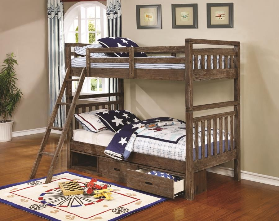 Malcolm Collection Bunk Bed 460371 Bunk Beds Furniture World
