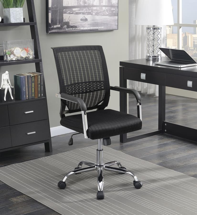 Home Office Chairs Contemporary Black Mesh Back Office Chair 881055 Home Office Desk Chair Above And Beyond Furniture Superstore