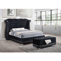 BARZINI BEDROOM COLLECTION - Barzini Upholstered Black Trunk