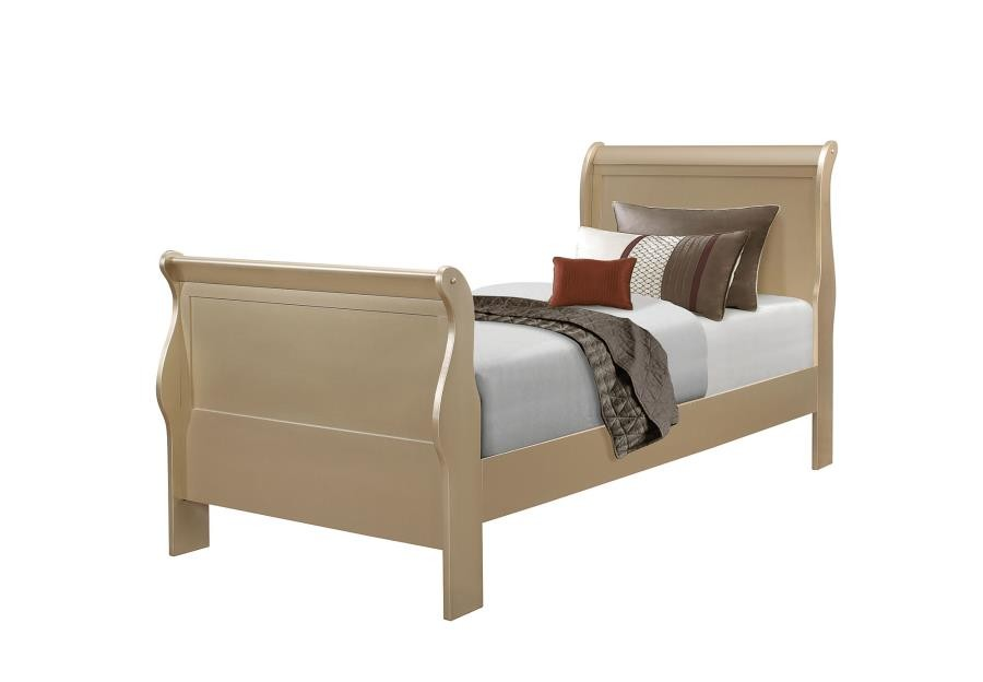 HERSHEL LOUIS PHILIPPE BEDROOM COLLECTION   TWIN BED