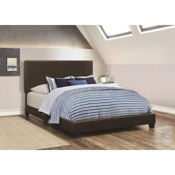 DORIAN UPHOLSTERED BED - Dorian Black Faux Leather Upholstered Queen Bed