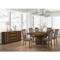 OCTAVIA DINING COLLECTION - Octavia Rustic Sappy Walnut Dining Table