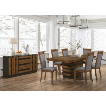 OCTAVIA DINING COLLECTION - Octavia Rustic Sappy Walnut Server