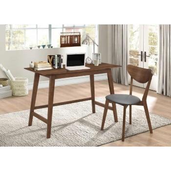 HOME OFFICE: DESK SET - Mid-Century Modern Walnut Desk and Chair Set