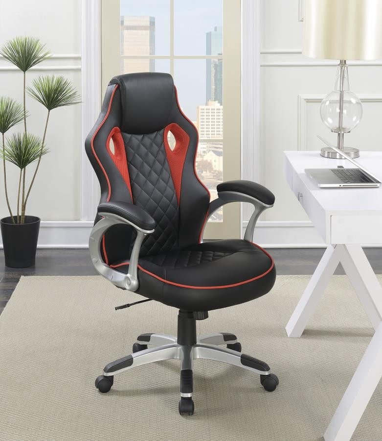 Home Office Chairs Contemporary Black Red High Back Office Chair 801497 Home Office Desk Chair Brady Home Furniture
