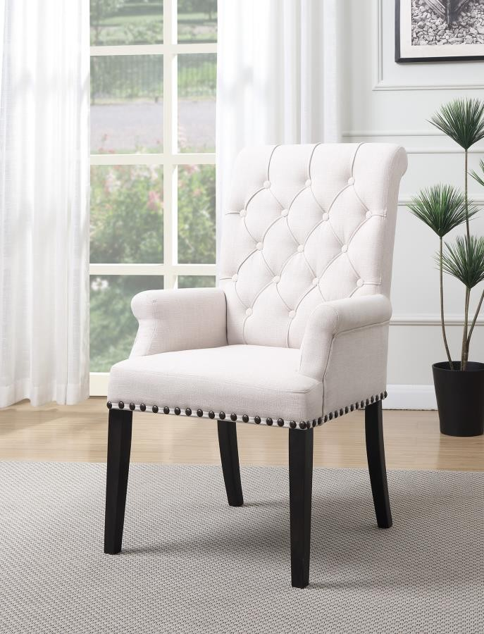 Weber Traditional Smokey Black Upholstered Armchair 107283 Chairs Lily S Funiture And Mattress