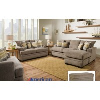 Perth Pewter Sofa-Chaise Sectional