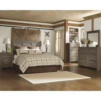 Juararo 3pc Dresser-Mirror-Panel Headboard