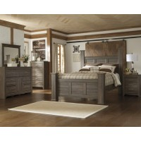 Juararo 5 pc Dresser-Mirror- Queen Poster Bed