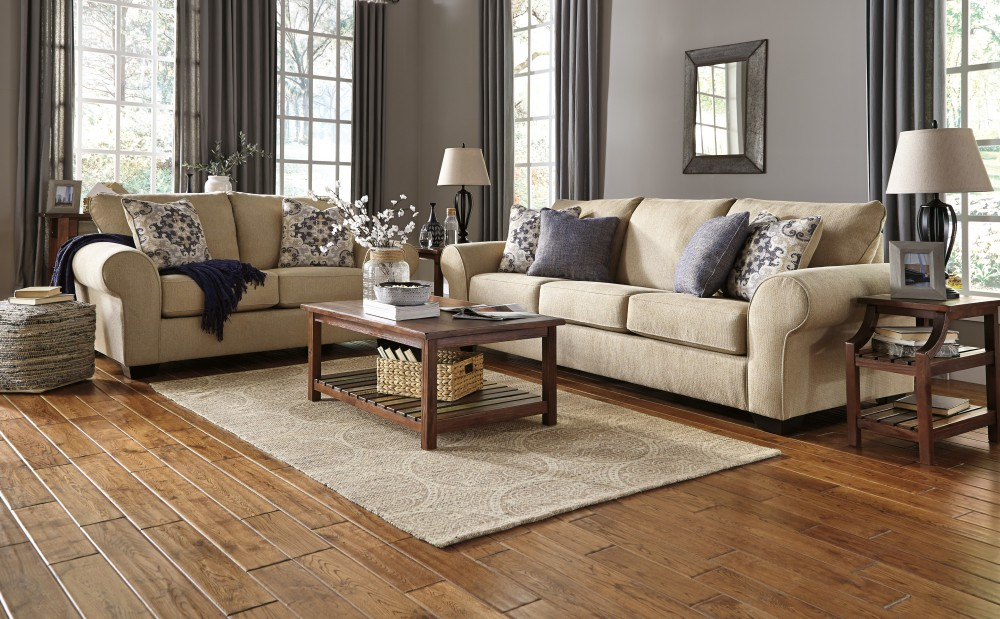 Denitasse - Parchment - Sofa & Loveseat