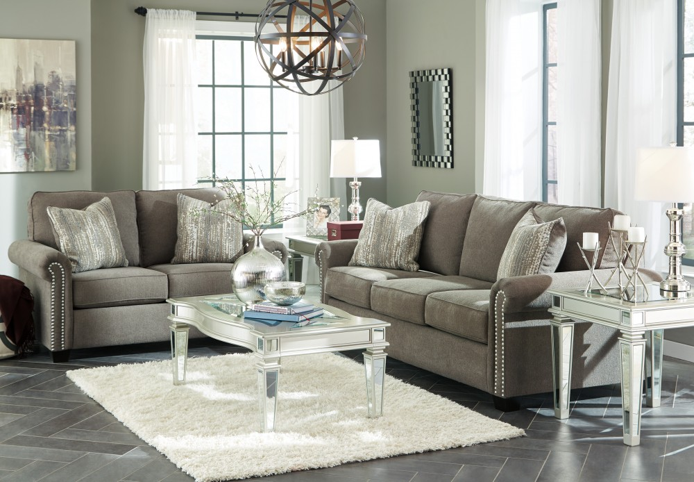 Captivating Gilman   Charcoal   Sofa U0026 Loveseat