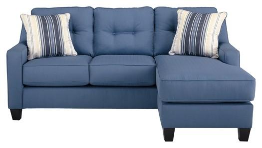 Aldie Nuvella - Blue - Queen Sofa Chaise Sleeper