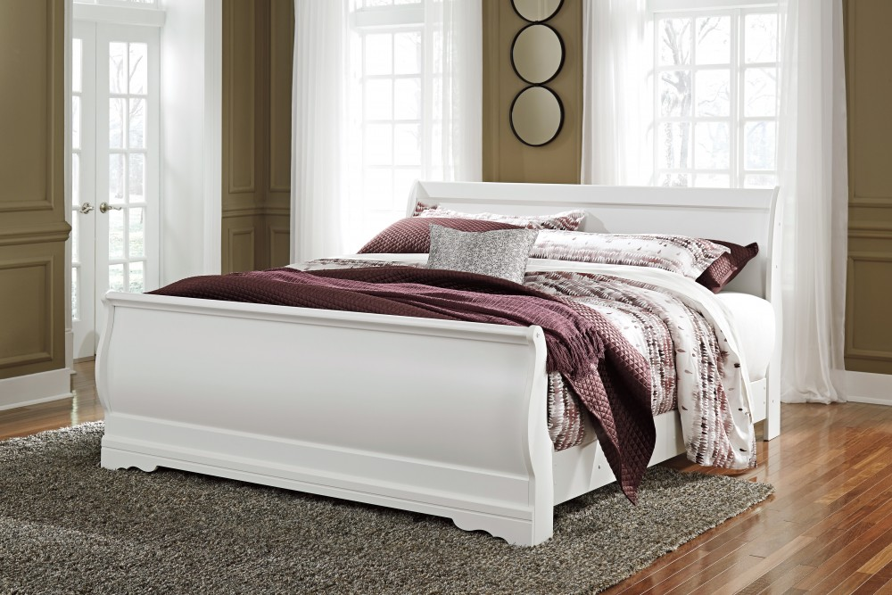 Anarasia King Sleigh Bed | B129/78/76/97 | Complete Beds | Naples ...