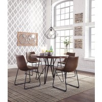 Centiar Round Dining Room Table & 4 UPH Side Chairs